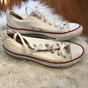 White Low Top Converse Sneakers